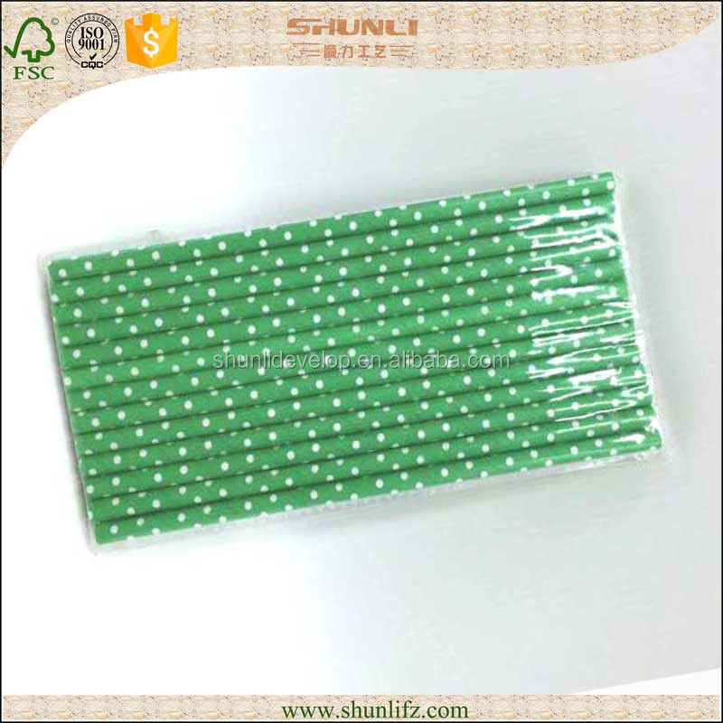 Biodegradable lime green paper straws wedding wholesale