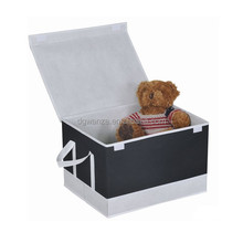 New design collapsible kids toy doll storage box with lid