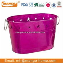 Hot Sale Decorative Oval Metal Ice Bucket