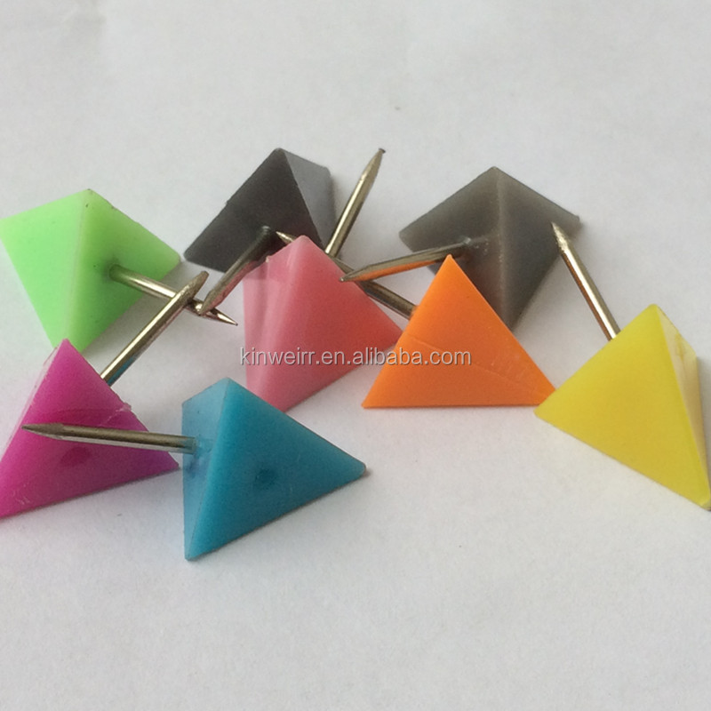 23*11mm Multicolor Office Triangle Shape Push Pin For Decorative