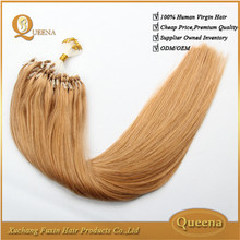 Wholesale Factory Price Italian Glue Virgin Wholesale Remy Double Drawn Cheap 28 Inch Micro Beads Hair Extensions