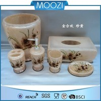 bathroom commonly used accessories floral set bath set