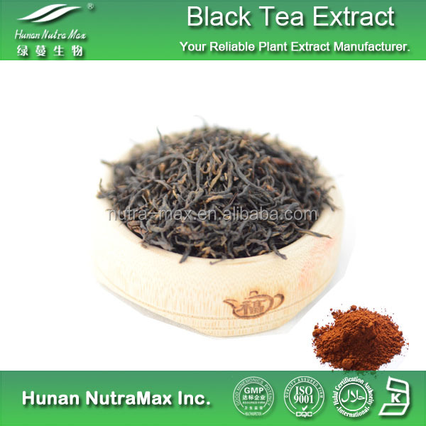 2017 100% Organic Instant Black Tea Extract Powder with Polyphenols Theaflavin