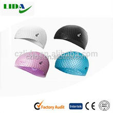 Wholesale customized colorful beautiful printing silicone rubber swimming cap,Bubble cap