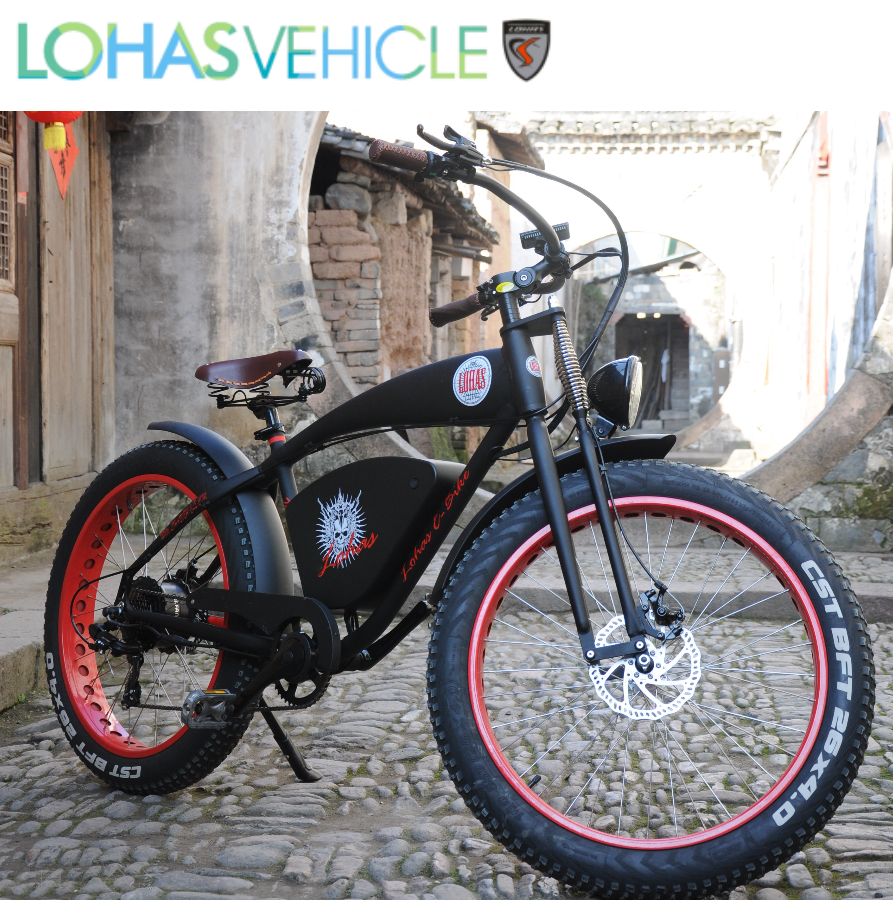 Electric mountain bike with fastest 48V 500W lithium battery electric power bicycle with full Suspension Fork