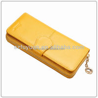 pu material compact lady billfold wholesale