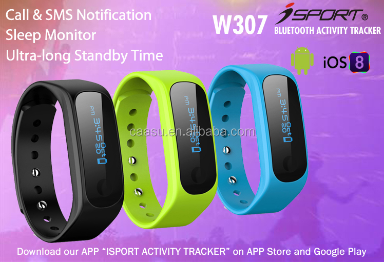 Large display bluetooth pedometer bracelet band