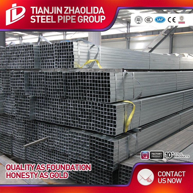 square large diameter galvanized welded steel pipe price list