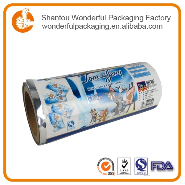 Printing bread bags raw material for non woven bags with laminating film for snack