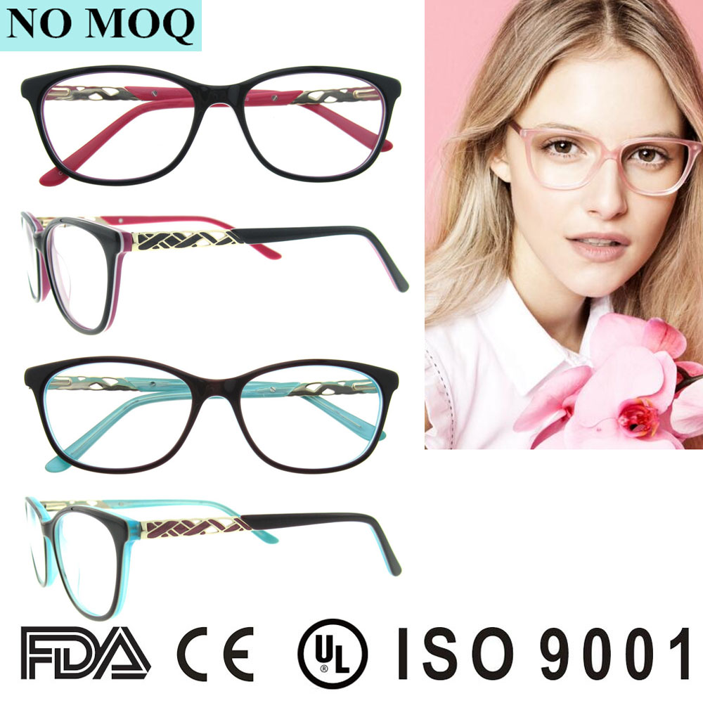 2016 New style spectacle frame wholesale personal diamond optics glasses Eyeglasses Frames for women