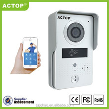 2015 new design wireless wifi doorbell camera with keypad supports two way intercom and remotely unlock door