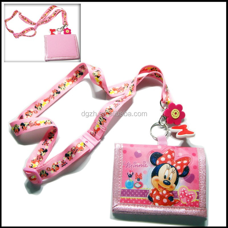 Cute card holder Neck straps, Children card holder lanyards
