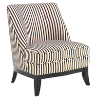 Jester Armless Tuxedo Fabric Club Chair