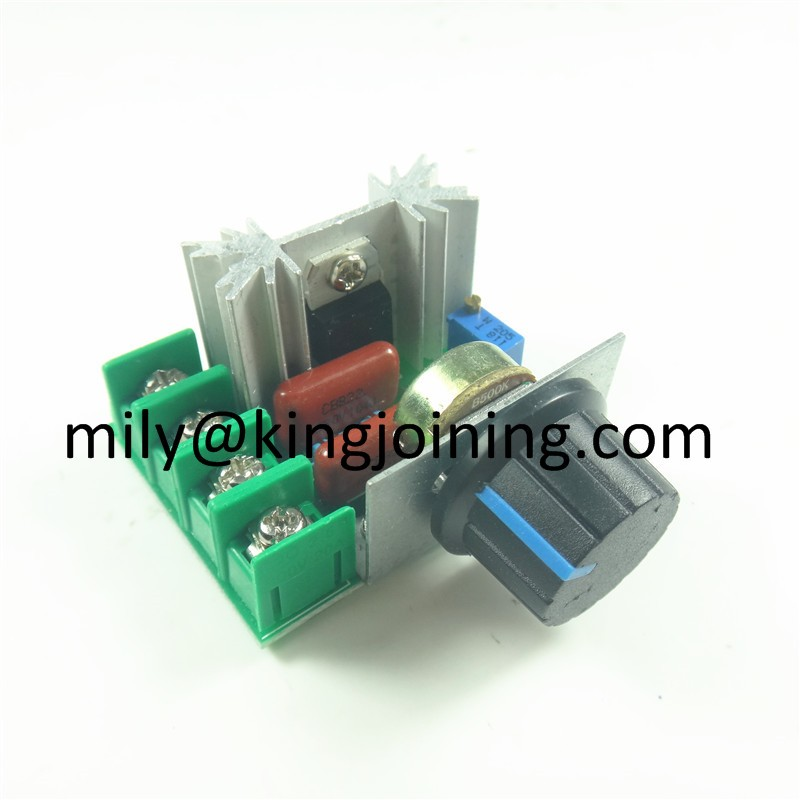 Good price KJ102 2000W PWM Controller AC 2KW 16A Voltage Regulator for Dimmer or AC Motor Controller