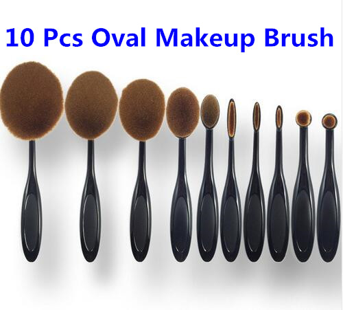 Free Sample Cosmetics Oval Makeup Brush, Private Label Professional Makeup Brushes