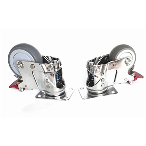 Heavy duty loaded swivel caster wheels with brake anti-shock spring and ball bearing for multi purpose