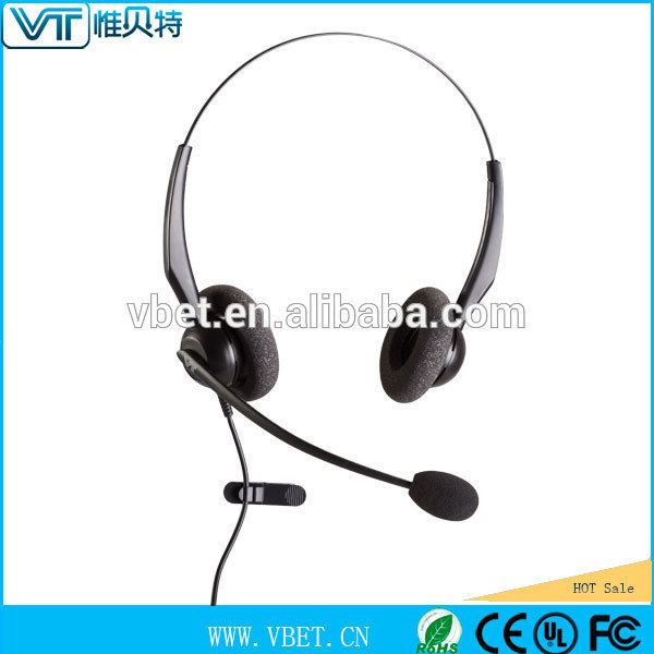 digital telephone For Mobile phone with 2.5mm jack (or RJ-11 for land Line) boom mic headset