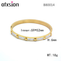 Stainless steel jewelry Best selling Brand Charming crystal Bangle