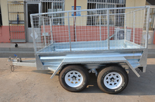CE approved 8x5 hot dop galvanised 4 wheel utility trailer