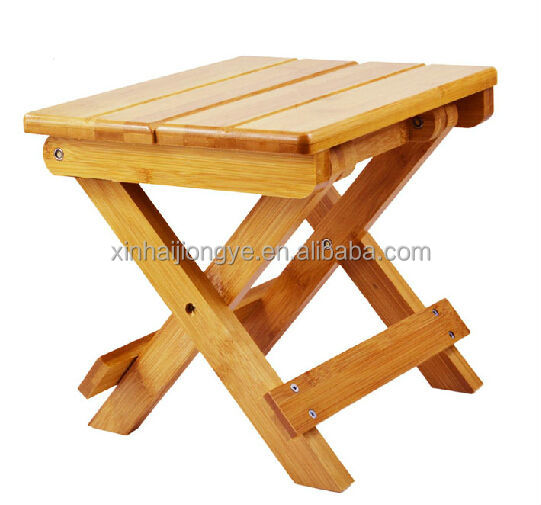 Customized Folding Bamboo Stool Accepted OEM