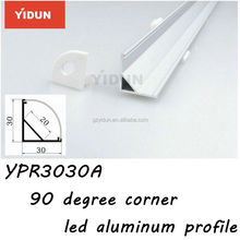 Corner Mount Aluminum LED Profile For LED Strip Light/Kitchen Cabinet Profile Kit