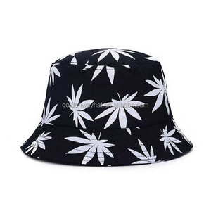f73677b20a4 Wholesale Custom Cotton Twill Bucket Hat With printed leaves logo fisherman  hat