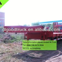 Red 2 Axles Trailer Low Bed