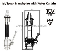 fire fighting jet spray nozzle branchpipe with water curtain