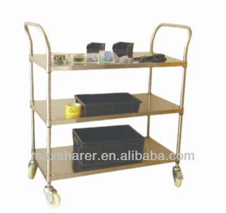 ESD 3 layer Stainless steel Cart/ esd Trolly /esd cart
