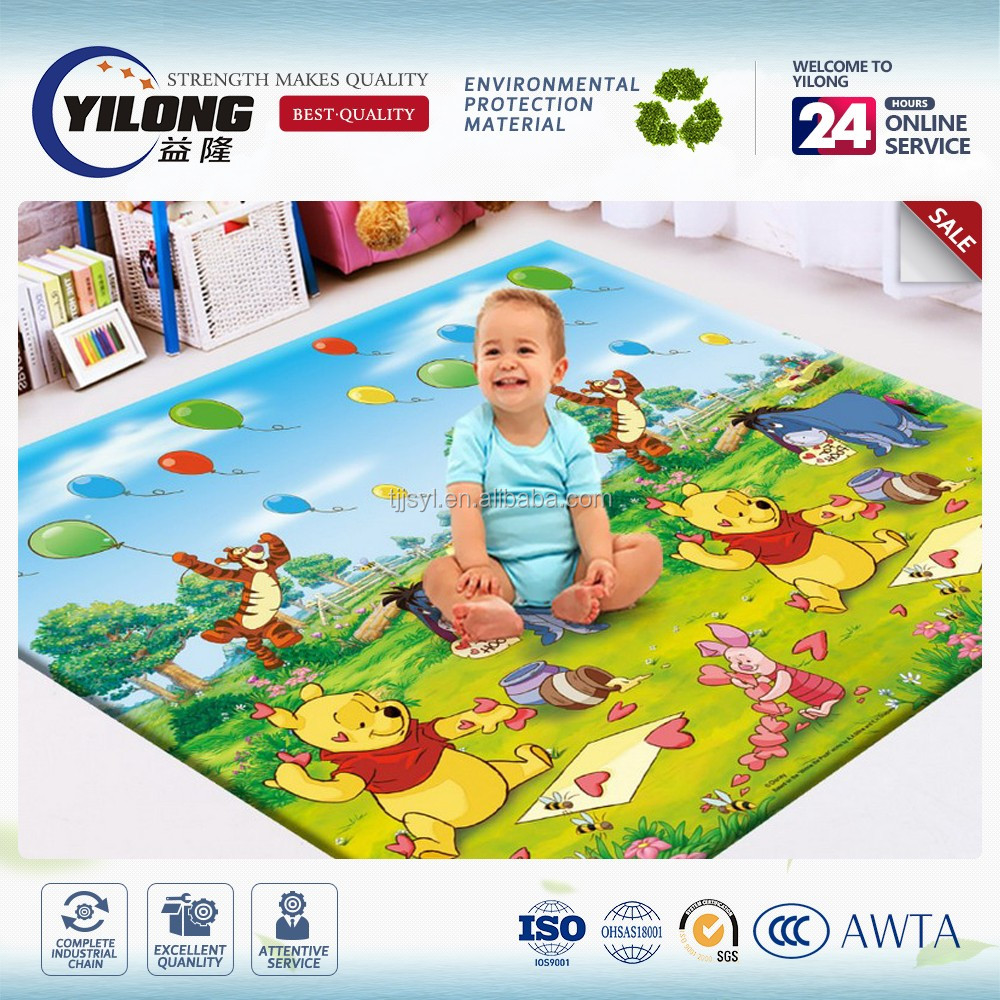 Chinese supplier wholesale indoor newly design folded baby crawling carpet with alphabet letters