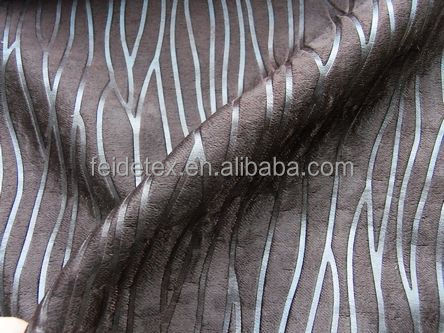 100% polyester embossed suede black out curtain