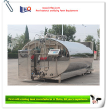 Direct cooling milk tank for dairy farming