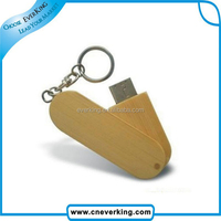 wooden design 2.0 type swivel USB