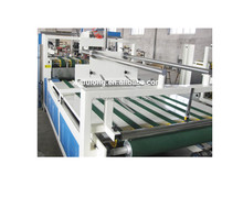 corrugated carton box semi automatic flexo folder gluer/auto feeding gluing machine