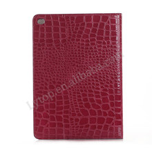 High quality Crcodile Leather Wallet Flip case for iPad Mini4 with Card Slot , for iPad Mini 4 back covers