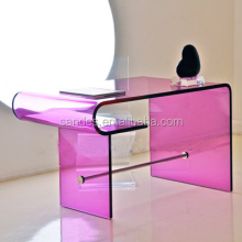 Purple Acrylic Multifunctional Long Coffee Table