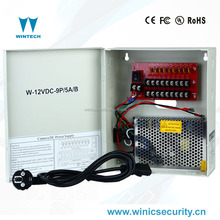 12v 60w 9ch waterproof outdoor led cctv power supply