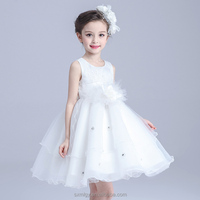 White Lace Girl Dress for Wedding