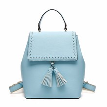 2017 Smart Custom High Quality PU Leather Day Bag Backpack, Wholesale Fashion Guangzhou School Backpack For Girls