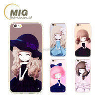 For iphone 6 case for mobile phone, cell phone cover for iphone 6 plus case, lovely cute sisters/ girls wear in beaitiful dress