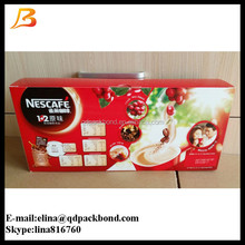 Food grade recycled 300g white cardboard popular style packaging box /coffee paper packaging box