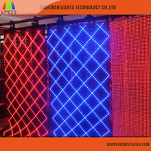 p120 Flexible mesh LED curtain screen display led mesh programmable sign display board