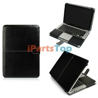 Colored Computer Protective Portfolio Cover For Macbook Pro 15.4 inch A1286 PU Leather Case Sleeve Bag Cover 4 Colors