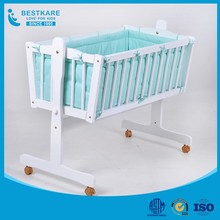 baby wooden crib infant cozy cot bed