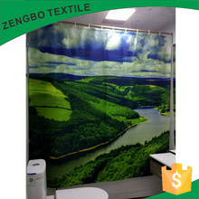 Green Color changing bath shower windows curtain Shower Curtain