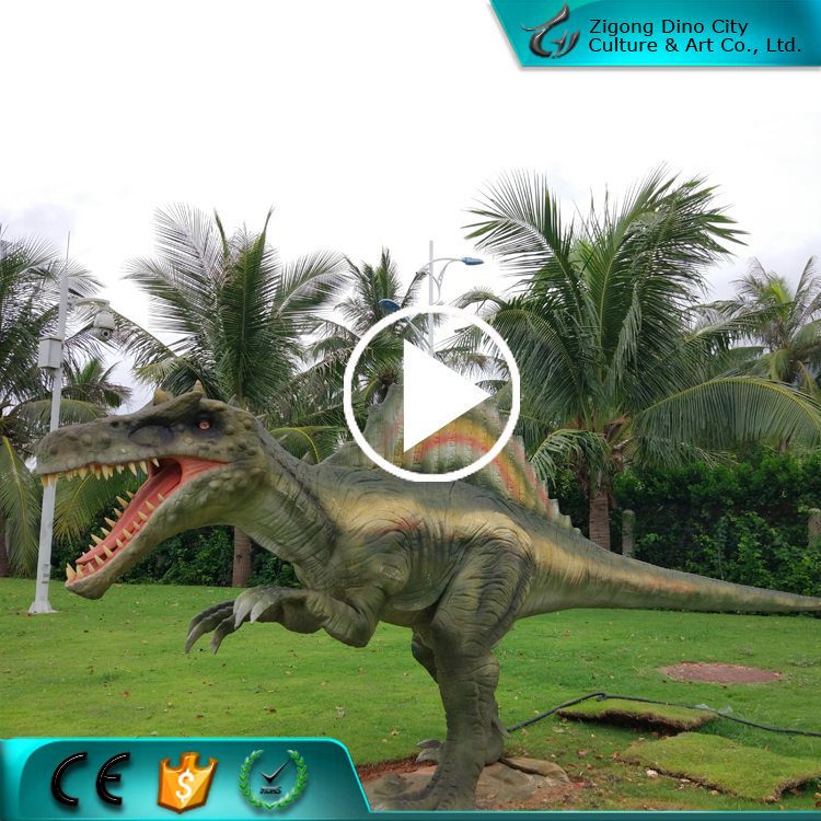 Outdoor Decorate Animated Life-size Robotic Dinosaur Simulation Model