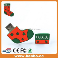 best gift for Chrismas sock shape usb flash drive4.0