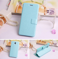 flip cover leather wallet leather case For xiaomi m2 case ,sleep / wake-up function leather case