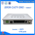Fiber optical network ftth epon 4FE CATV ONU compatible with HuaweI/ZTE/GCOM OLT