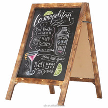 35 X 21 inch Rustic A-Frame Natural Wood Chalkboardwooden blackboard/ Sign w/ Torched Finish